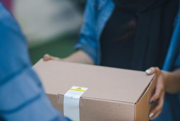 delivering parcel